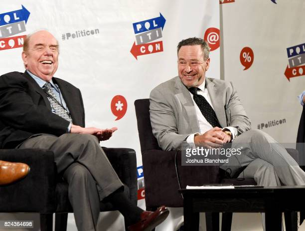 Bob Shrum and David Frum at 'Art of the Campaign Strategy' panel during Politicon at Pasadena Convention Center on July 29 2017 in Pasadena California