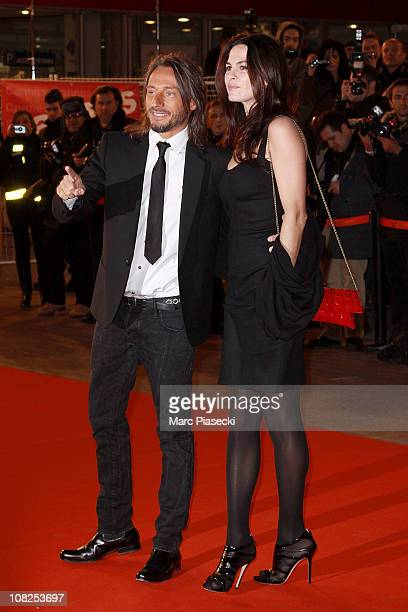 Bob Sinclar and his wife Ingrid attend the NRJ Music Awards 2011 on January 22 2011 in Cannes France