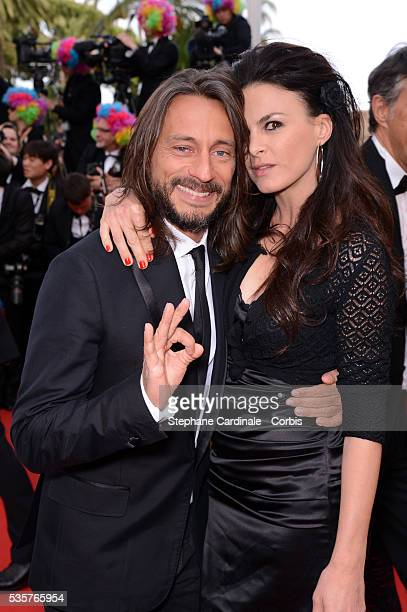 """Bob Sinclar and Ingrid at the premiere for """"Madagascar 3: Europe's Most Wanted"""" during the 65th Cannes International Film Festival."""