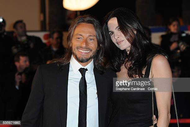 """Bob Sinclar and Wife Ingrid attend the NRJ Music Awards 2011 at the """"Palais des Festivals et des Congres"""" in Cannes."""