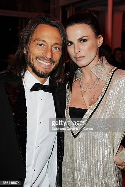 Bob Sinclar and wife Ingrid attend the Sidaction gala dinner held at the Pavillon d'Armenonville in Paris