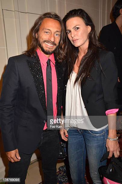 Bob Sinclar and wife Ingrid Sinclar attend the DSquared2 Exclusive Party - Paris Fashion Week Spring / Summer 2012 at At Hotel Ritz on October 2,...