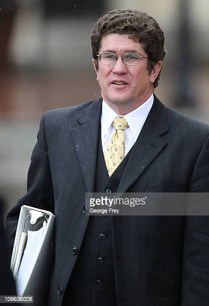 Bob Steele the lead defance attorney for Brian David Mitchell talks with a reporter outside Federal Court November 8 2010 in Salt Lake City Utah The...