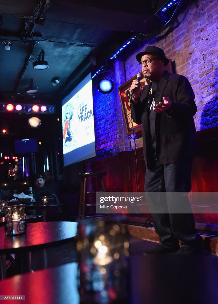 Bob Sumner speaks onstage during truTV's Laff Mobb's Laff Tracks comedy show at The Village Underground on December 6, 2017 in New York City. (Photo by Mike Coppola/Getty Images for truTV) 27506_001