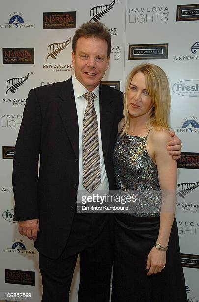 Bob Tapert and Rene O'Connor during Fourth Annual Celebration of New Zealand Filmmaking and Creative Talent Pre Oscar Dinner at The Beverly Hills...