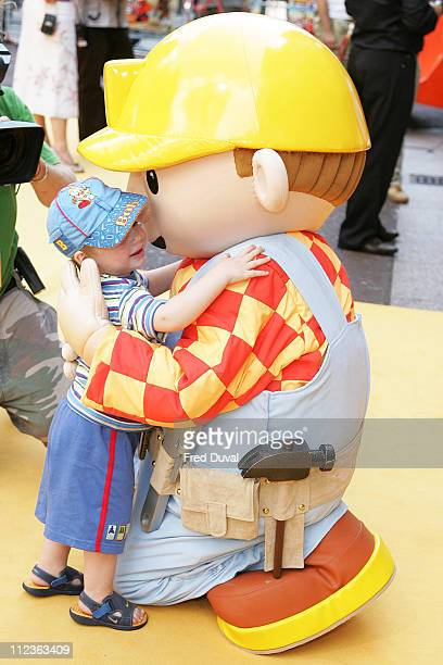 Bob the Builder during Bob The Builder Built To Be Wild London Premiere Outside Arrivals at Odeon West End in London Great Britain