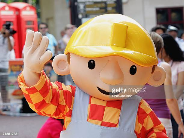 Bob the Builder poses for photographs at the Bob The Builder Built To Be Wild UK Premiere at the Odeon West End in Leicester Square on June 2 2006 in...