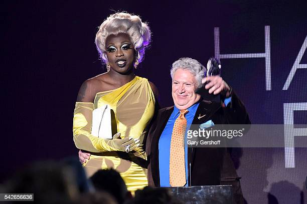 Bob the Drag Queen and Honoree Harvey Fierstein speak at the 2016 Logo's Trailblazer Honors at Cathedral of St John the Divine on June 23 2016 in New...