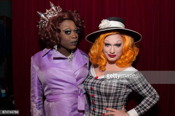 Bob The Drag Queen and Jinkx Monsoon attend VH1 Presents RuPaul's DragCon Party at Belasco Theatre on April 28 2017 in Los Angeles California
