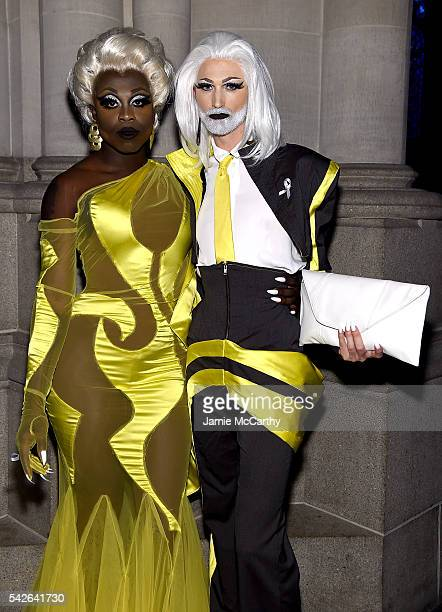Bob the Drag Queen and TayTay attend 2016 Logo's Trailblazer Honors at Cathedral of St John the Divine on June 23 2016 in New York City