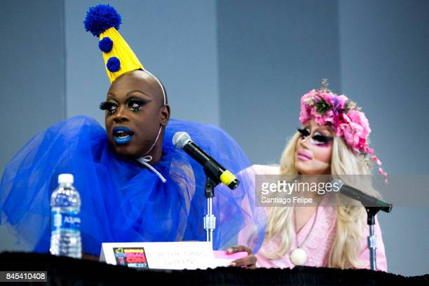 Bob The Drag Queen and Trixie Mattel attend RuPaul's DragCon NYC 2017 at The Jacob K Javits Convention Center on September 10 2017 in New York City