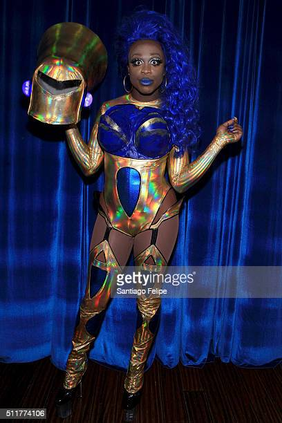 Bob The Drag Queen attends Logo's RuPaul's Drag Race Season 8 Premiere at Stage 48 on February 22 2016 in New York City