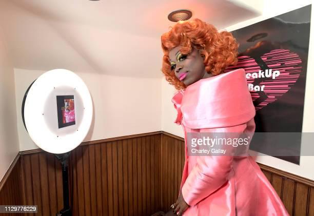 Bob the Drag Queen attends the Netflix Film The Breaker Upperers x The Break Up Bar Karaoke Valentines at the Break Up Bar on February 14 2019 in Los...
