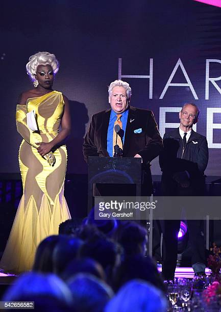 Bob the Drag Queen Harvey Fierstein and Joel Grey speak at the 2016 Logo's Trailblazer Honors at Cathedral of St John the Divine on June 23 2016 in...