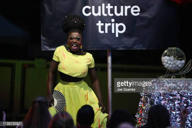 Bob the Drag Queen hosts Drag Bingo with Culture Trip as Part of Soho in SoCo for SXSW at Austin Motel on March 11 2019 in Austin Texas