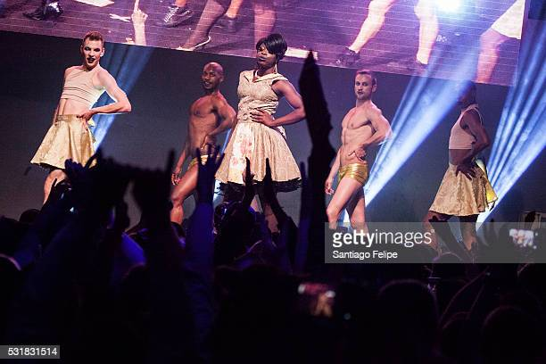 Bob The Drag Queen performs onstage during the RuPaul's Drag Race Season 8 Finale Party at Stage 48 on May 16 2016 in New York City