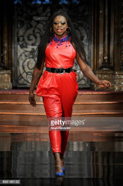 Bob the Drag Queen walks the runway before Resty Lagare at New York Fashion Week Art Hearts Fashion NYFW FW/17 at The Angel Orensanz Foundation on...