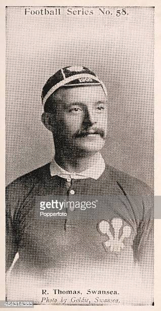Bob Thomas of Swansea RFC and Wales featured on a vintage cigarette card published in London circa 1902