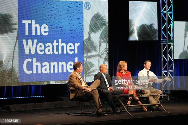 Bob Walker Executive Vice President and General Manager of Networks and Content The Weather Channel meteorologists Jim Cantore and Stephanie Abrams...