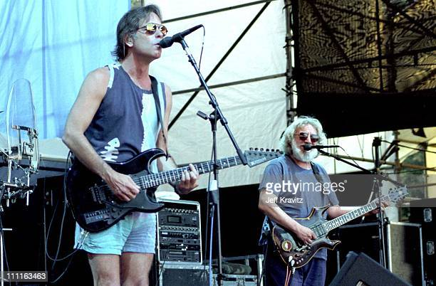 Bob Weir and Jerry Garcia of the Grateful Dead in Seattle WA on 5/26/95