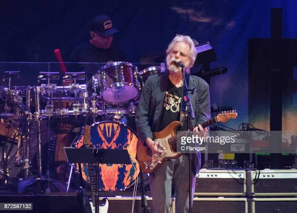 Bob Weir and Mickey Hart of Dead and Company perform during the Band Together Bay Area Benefit Concert at ATT Park on November 9 2017 in San...