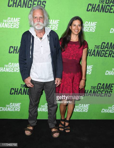 Bob Weir and Natascha Muenter arrives at the LA Premiere Of The Game Changers at ArcLight Hollywood on September 04 2019 in Hollywood California