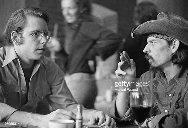 Bob Weir and Ron 'Pigpen' McKernan of American rock band The Grateful Dead 4th April 1972