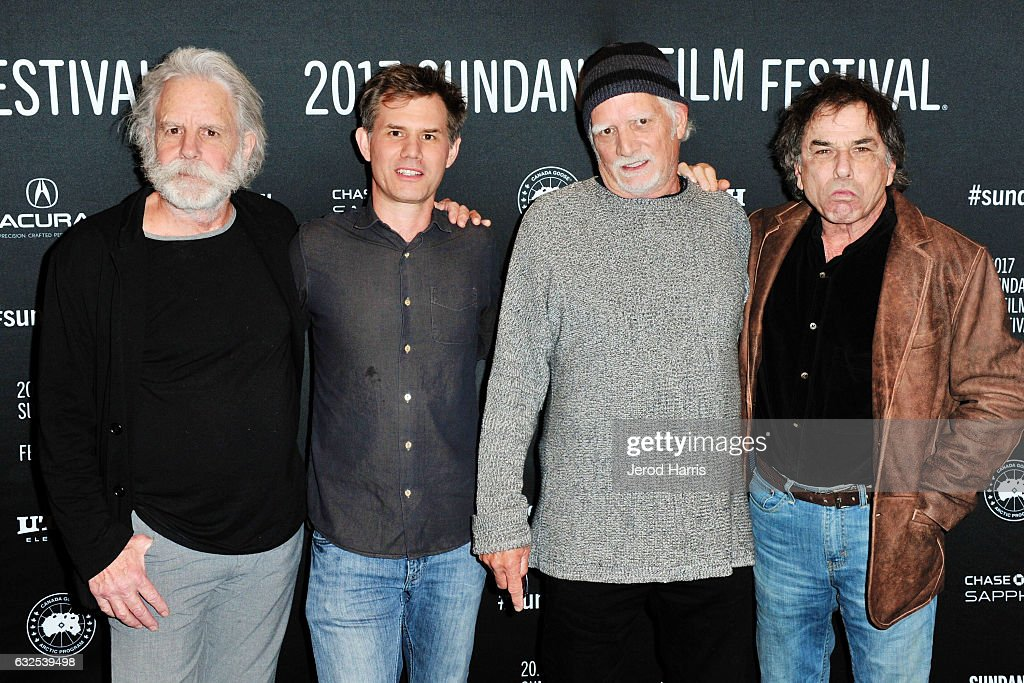 Bob Weir, John Nein, Bill Kreutzmann and Mickey Hart arrive at the 'Long Strange Trip' Premiere at Yarrow Hotel Theater on January 23, 2017 in Park City, Utah.