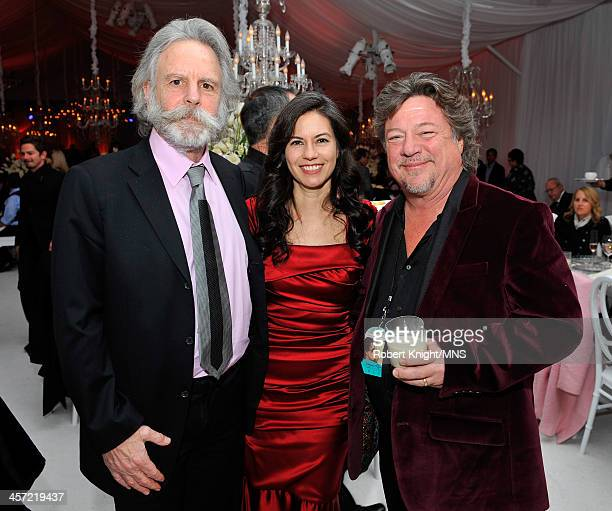 Bob Weir of the Grateful Dead Natascha Munter and Danny Zelisko attend the wedding of Michaele Schon and Neal Schon at the Palace of Fine Arts on...