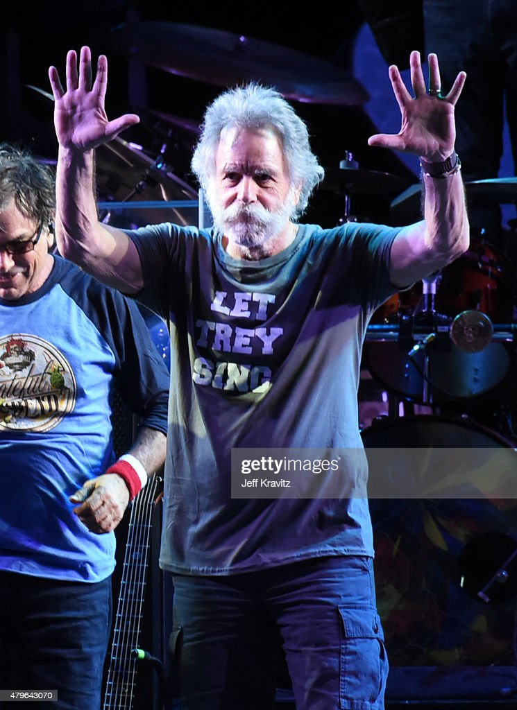 Bob Weir of The Grateful Dead perform during the 'Fare Thee Well, A Tribute To The Grateful Dead' on July 5, 2015 in Chicago, Illinois.