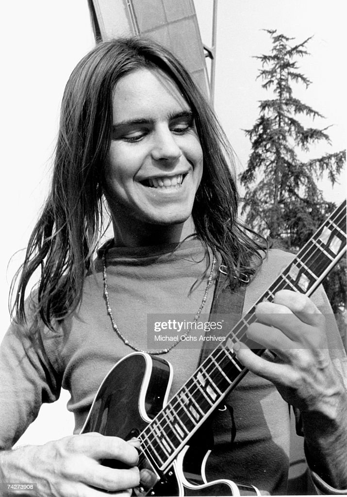 Bob Weir of The Grateful Dead performs during the sound check at the Hollywood Bowl on September 15, 1967 in Los Angeles, California.