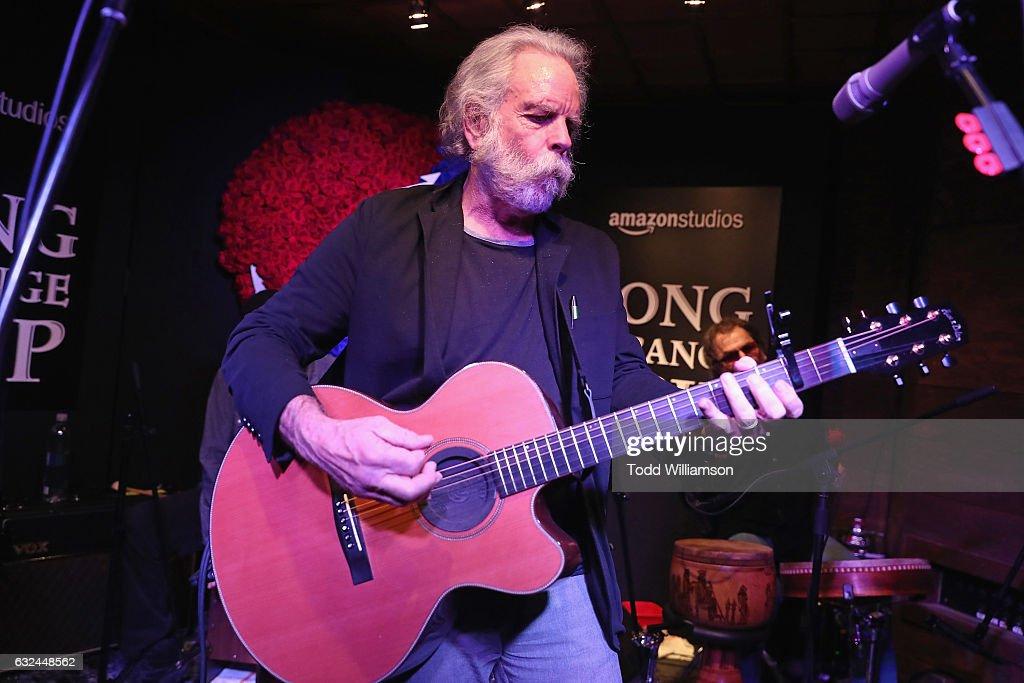 "Amazon Studios Celebrates ""Long Strange Trip"" At The 2017 Sundance Film Festival, Featuring A Performance By Mickey Hart, Bill Kreutzmann, And Bob Weir - 2017 Park City : News Photo"
