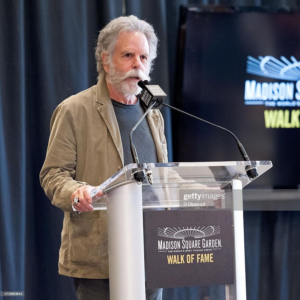 Bob Weir of the Grateful Dead speaks onstage during the Madison Square Garden 2015 Walk Of Fame Inductions at Madison Square Garden on May 11, 2015 in New York City.