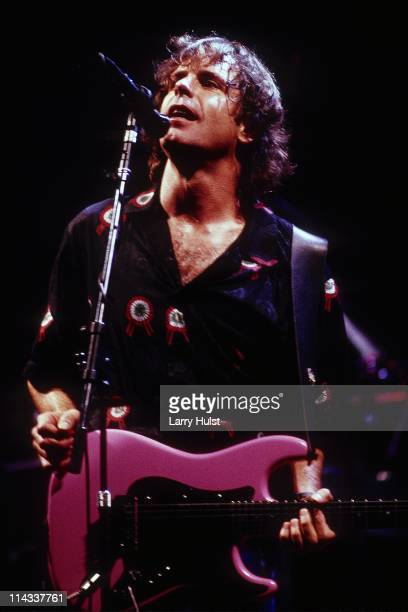 Bob Weir performing with 'the Grateful Dead' at the Oakland Coliseum in California on December 31 1987