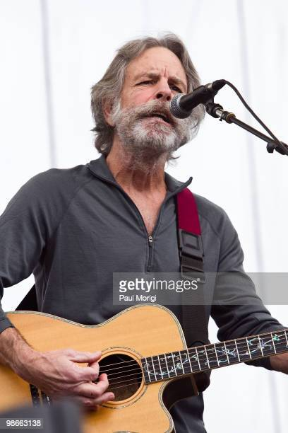 Bob Weir performs at The 2010 Earth Day Climate Rally at the National Mall on April 25 2010 in Washington DC