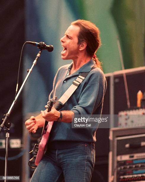 Bob Weir performs with The Grateful Dead at the Greek Theater in Berkeley California on August 17 1989