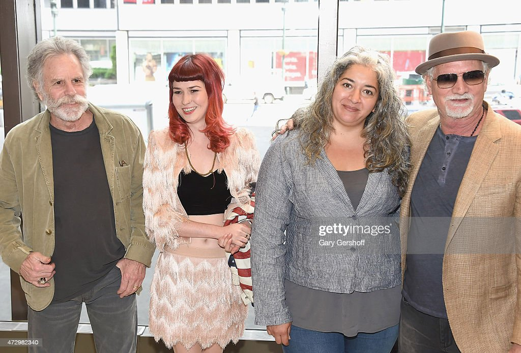 Bob Weir, Reya Hart, Trixie Garcia and Bill Kreutzmann attend the Madison Square Garden 2015 Walk Of Fame Inductions at Madison Square Garden on May 11, 2015 in New York City.