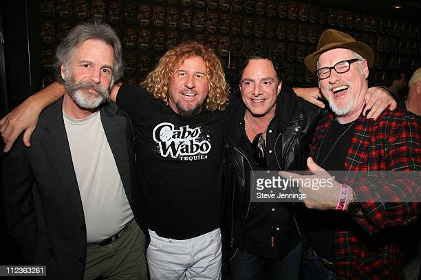 Bob Weir Sammy Hagar Neal Schon and Joel Selvin during Sammy Hagar Celebrates His Induction Into the Rock and Roll Hall of Fame with Cabo Wabo Uno...