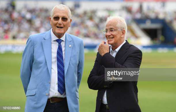 Bob Willis and David Gower who were members of England's greatest Test Team to mark England's 1000th Test Match pictured during day 3 of the First...