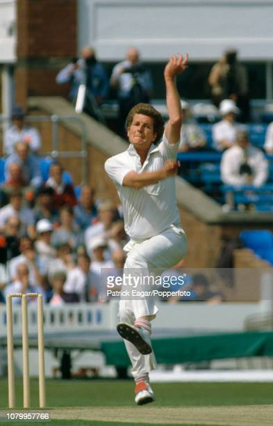 Bob Willis bowling for England during the 1st Texaco Trophy One Day International between England and West Indies at Old Trafford Manchester 31st May...