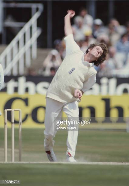 Bob Willis of England bowling during the Australian 2nd innings of the Third Ashes Test between England and Australia on 21st July 1981at the...