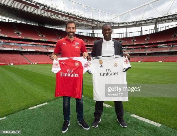 Bob Wilson Real Madrid Legend Clarence Seedorf David Seaman Arsenal CEO Ivan Gazidis Ray Parlour Nigel Winterburn Real Madrid ambassador Ricardo...