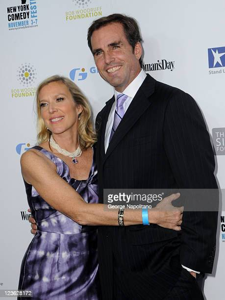 Bob Woodruff and wife Lee Woodruff attend Stand Up For Heroes presented by the New York Comedy Festival and the Bob Woodruff Foundation at The Beacon...