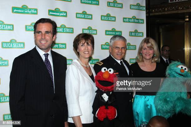Bob Woodruff Martha Raddatz General George Casesy Sheila Casey and Sesame Street Muppets attend SESAME WORKSHOP'S 8th Annual Benefit Gala at Cipriani...