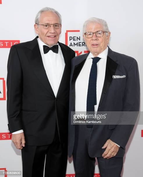 Bob Woodward and Carl Bernstein attend the 2019 PEN America Literary Gala at American Museum of Natural History on May 21, 2019 in New York City.