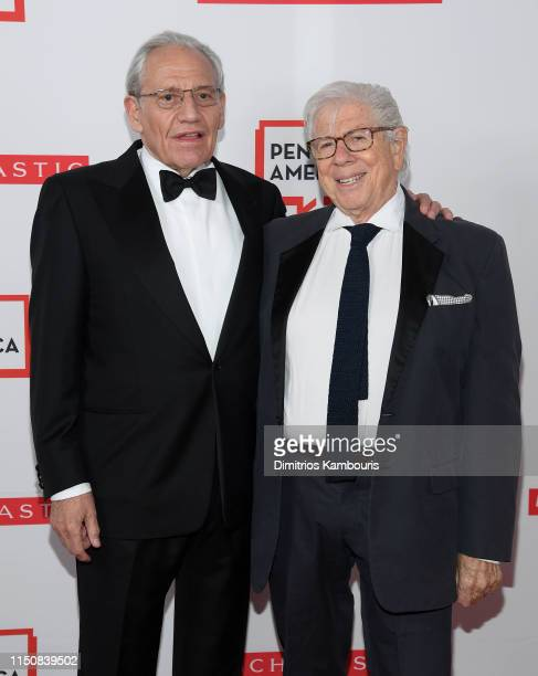 Bob Woodward and Carl Bernstein attend the 2019 PEN America Literary Gala at American Museum of Natural History on May 21 2019 in New York City