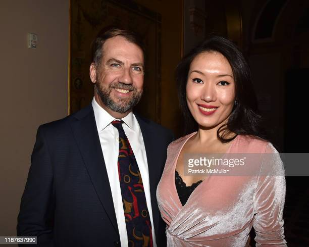 Bob Woodward and Xie Xin attend the Atlantic Salmon Federation New York Gala at the Plaza on November 13, 2019 in New York City.