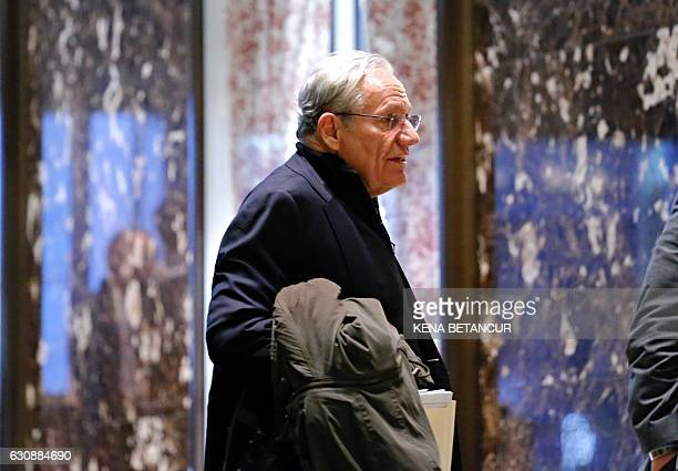 Bob Woodward arrives for meetings with US Presidentelect Donald Trump at Trump Tower on January 3 2017 in New York / AFP / KENA BETANCUR
