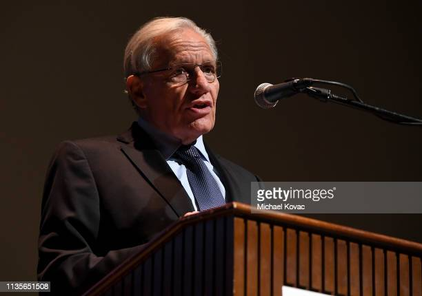 Bob Woodward attends 'A Morning With Bob Woodward' at American Jewish University on April 7 2019 in Los Angeles California