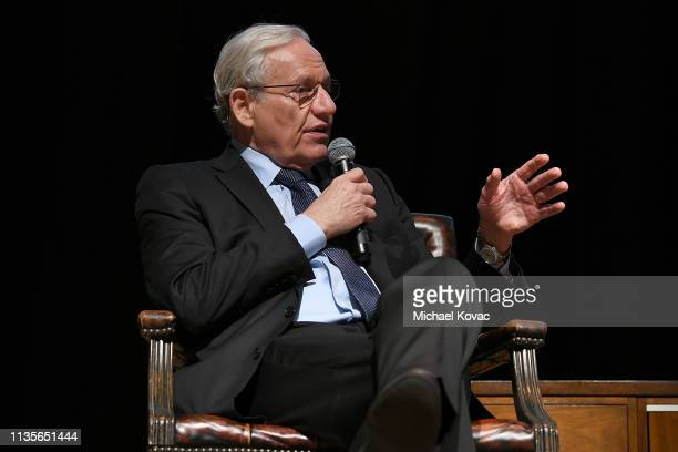 Bob Woodward presents onstage at 'A Morning With Bob Woodward' at American Jewish University on April 7 2019 in Los Angeles California